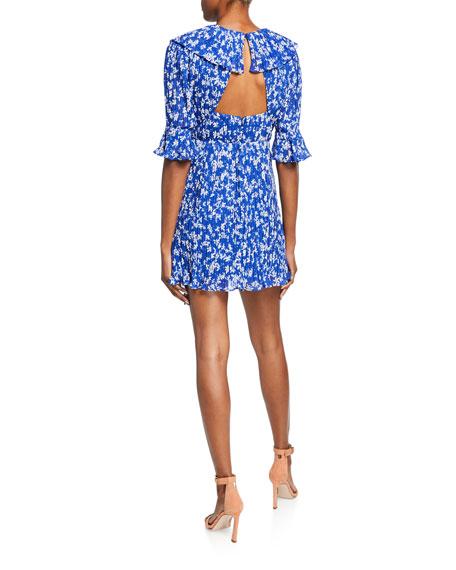 La Maison Talulah Mediterranean Minx Printed Open-Back Mini Dress