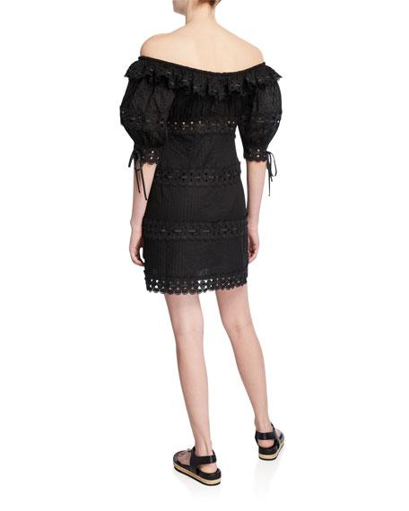 Zimmermann Honour Pintuck Paneled Mini Dress
