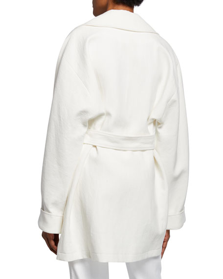 Elie Tahari Amelie Double-Breasted Jacket with Belt