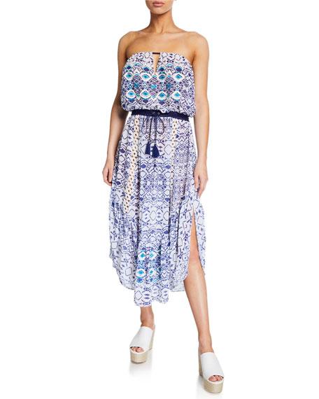 Ramy Brook Luna Printed Strapless Dress