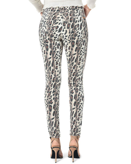 Joe's Jeans The Charlie Ankle Skinny Leopard-Print Jeans