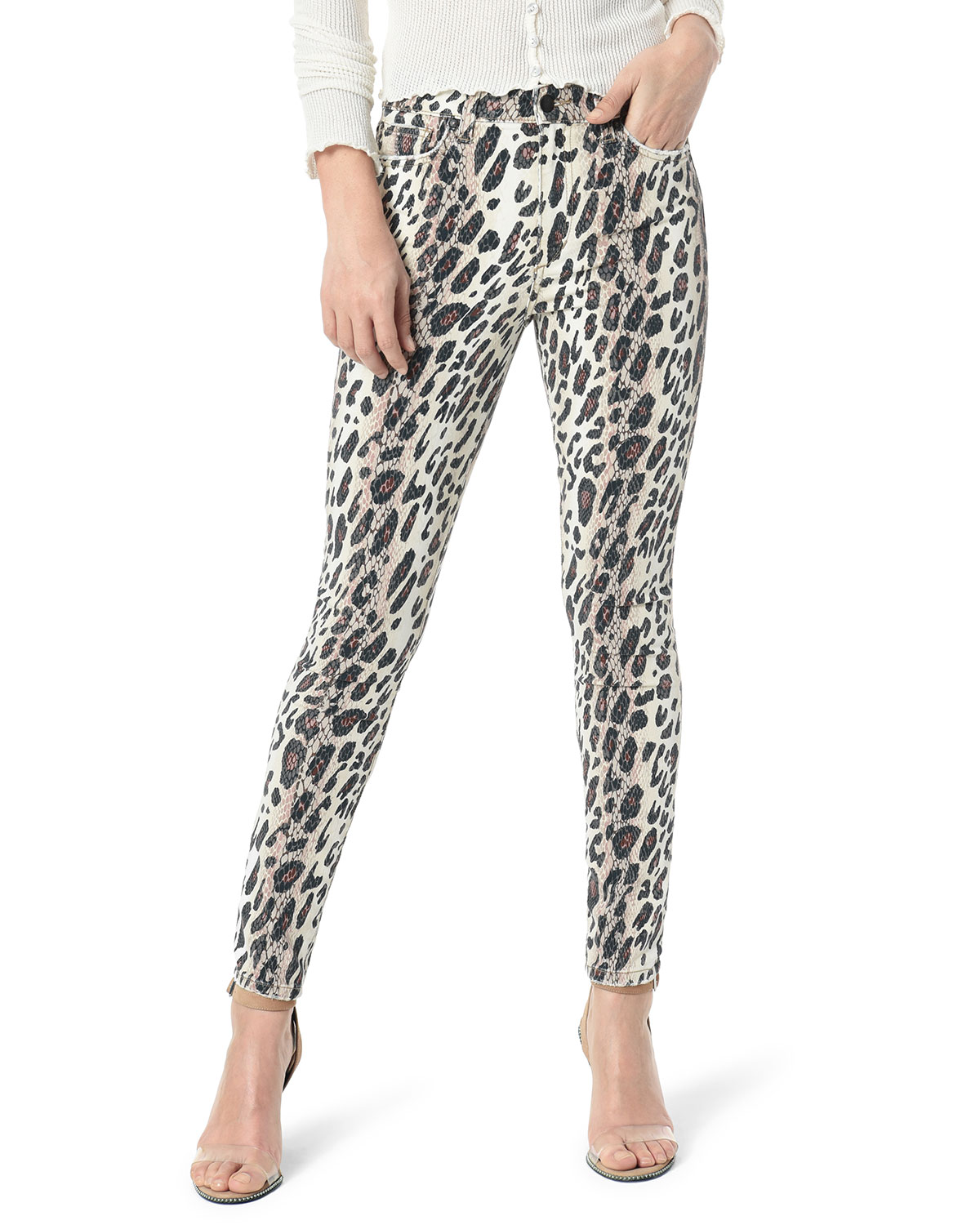 The Charlie Ankle Skinny Leopard Print Jeans