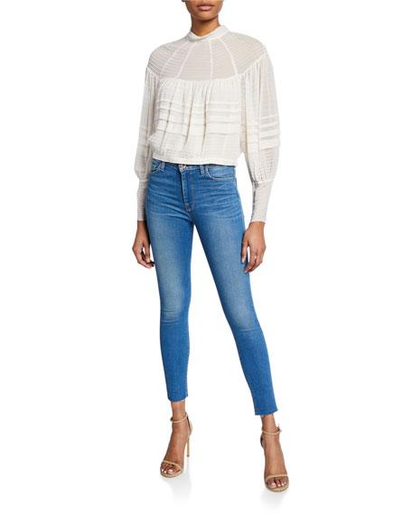 Hudson Barbara High-Waist Super Skinny Ankle Jeans