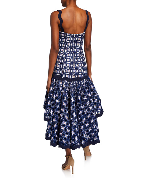 Alexis Embroidered High-Low Dress