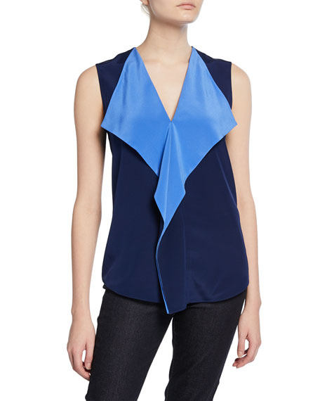 Diane von Furstenberg Isabel Draped Sleeveless Top