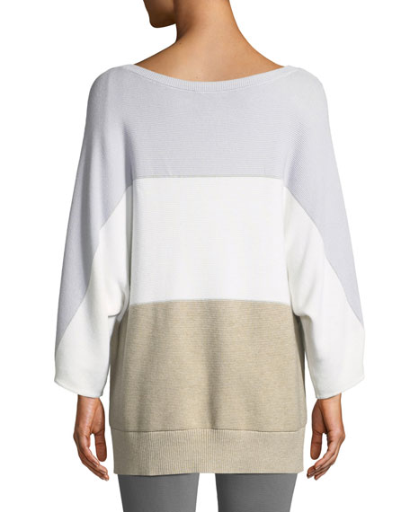 Lafayette 148 New York Oversized Cotton Cashmere Dolman Pullover