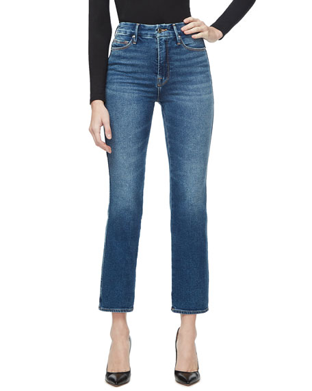 Good American Good Curve Straight Stretch Jeans - Inclusive Sizing