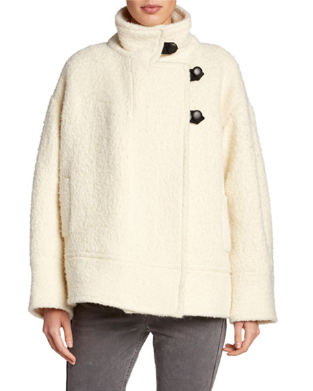 Etoile Isabel Marant Fagan Button-Front Alpaca Coat