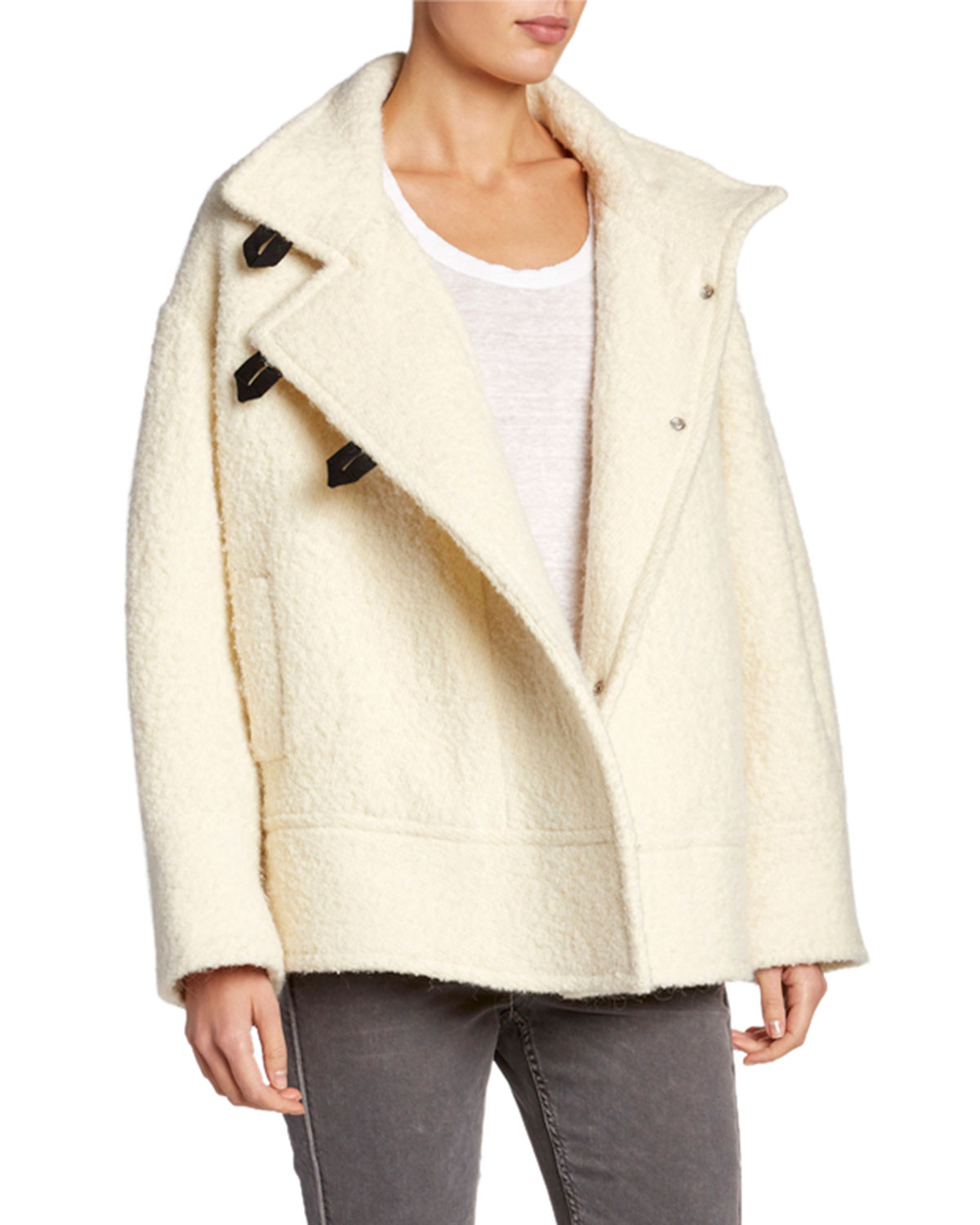 Fagan Button Front Alpaca Coat by Etoile Isabel Marant