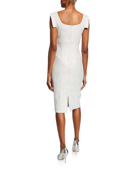 Black Halo Jackie Asymmetric Sleeveless Sheath Dress