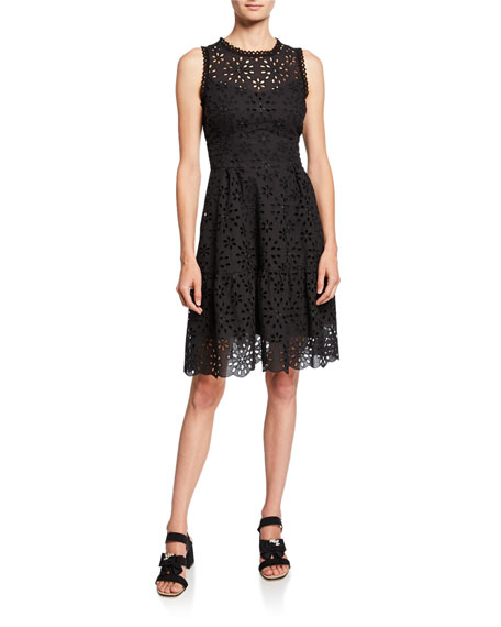 Nanette Lepore Flower Child Sleeveless Eyelet Dress