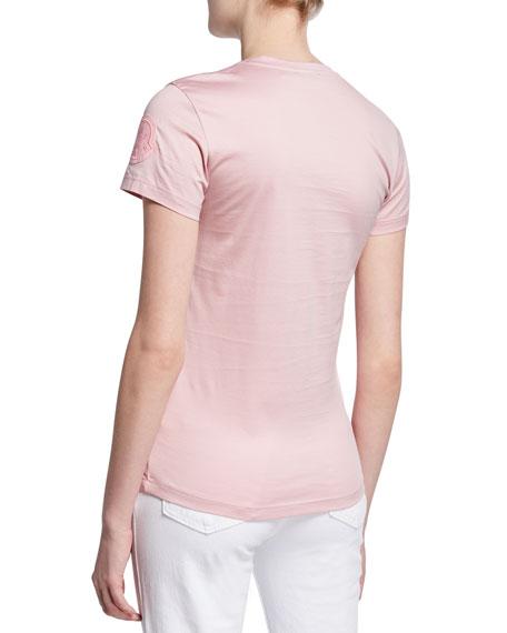 Moncler Slim-Fit Logo-Sleeve T-Shirt