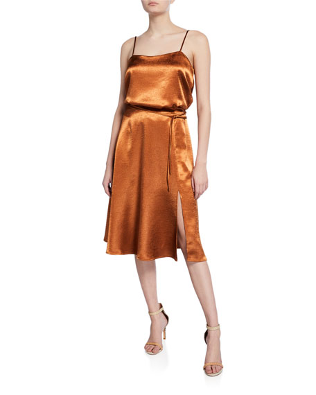 Joie Alberic Shiny Mid-Rise Skirt