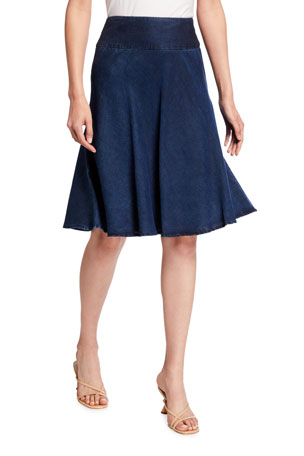 NIC+ZOE Summer Fling A-Line Denim Skirt