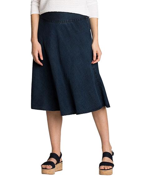 NIC+ZOE Petite Summer Fling A-Line Denim Skirt