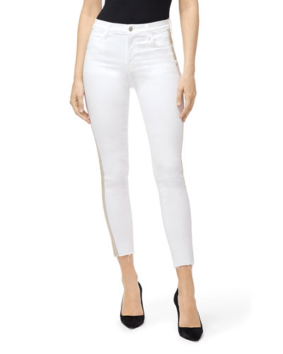 Alana High-Rise Crop Skinny Jeans with Side Stripes