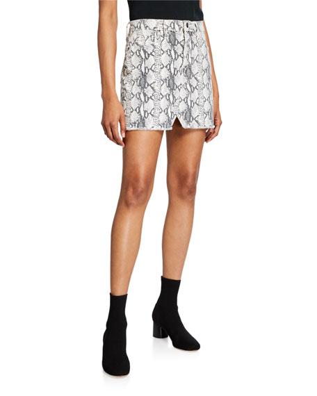 FRAME Le Mini Skirt with Split Front