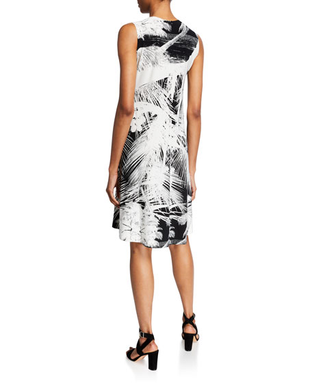 Norma Kamali Tropical Sleeveless Swing Dress