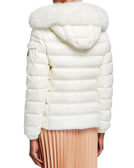 Moncler Bady Puffer Jacket w/ Fur-Trim Hood