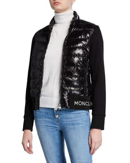 Moncler Mixed-Media Cardigan
