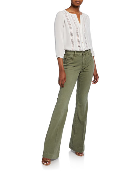 L'Agence Affair High-Rise Relaxed Flare Jeans