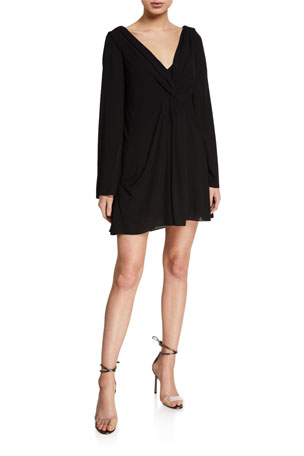 cinq a sept Cecil Gathered Long-Sleeve Shift Dress