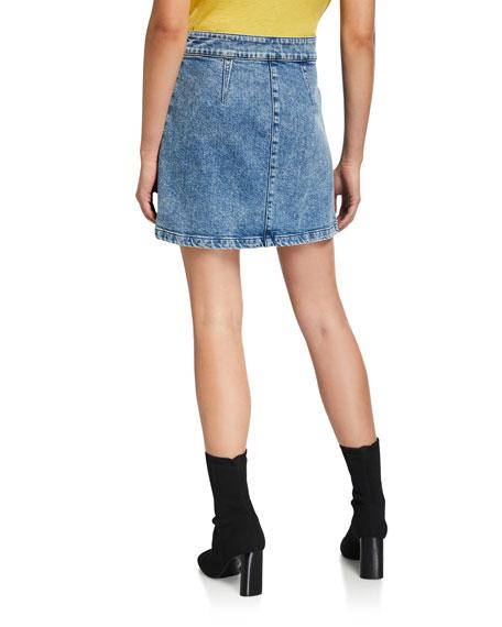 Rag & Bone Isabel Zip-Front Denim Mini Skirt