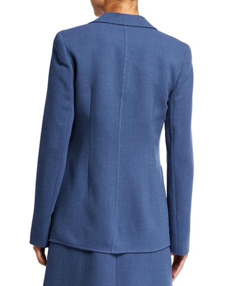 Lafayette 148 New York Nazelli Nouveau Crepe One-Button Jacket