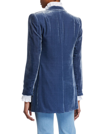 Lafayette 148 New York Slade Double-Breasted Velvet Jacket