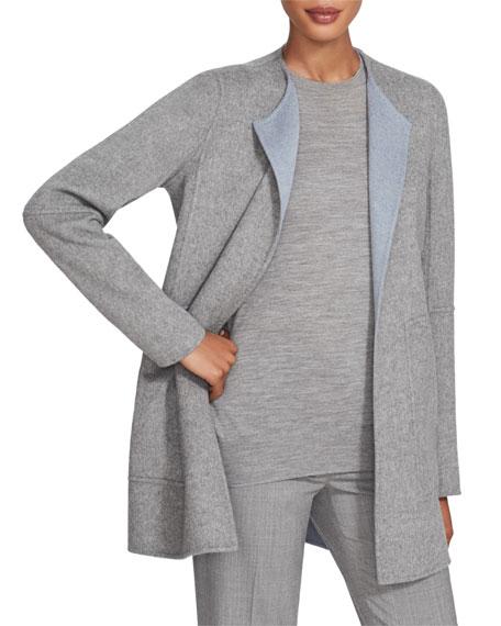 Lafayette 148 New York Rowena Two Tone Double Face Reversible Wool Jacket