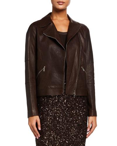 Luscious Lambskin Leather Moto Jacket