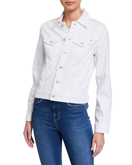 Image 2 of 4: AG Adriano Goldschmied Robyn Button-Front Denim Jacket, True White