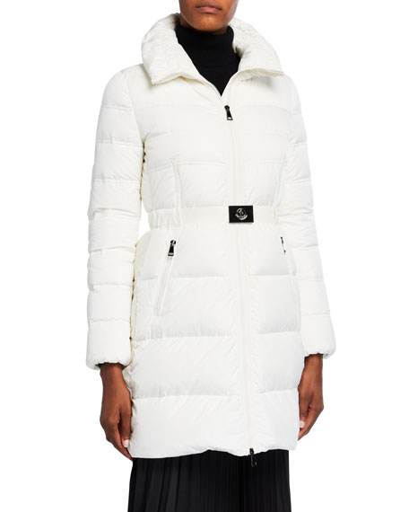 Moncler Coats ACCENTEUR LONG BELTED PUFFER COAT