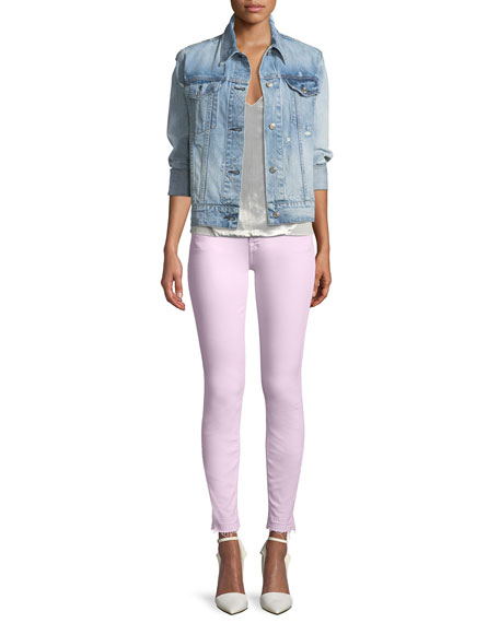 7 For All Mankind The Ankle Skinny Jeans with Released Hem