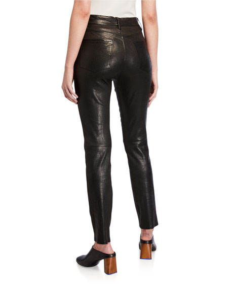 FRAME Le Sylvie Leather Slim Pants