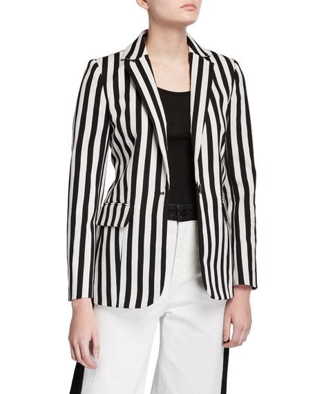 FRAME Classic Striped Blazer