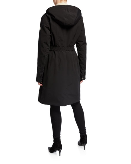 Moncler Lorado Hooded A-Line Jacket