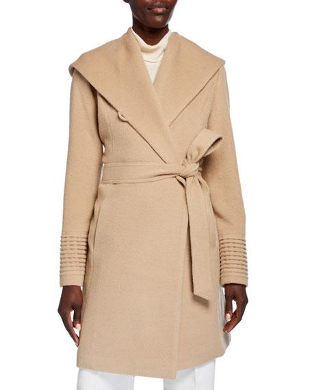 Sentaler Mid-Length Hooded Baby Alpaca Wrap Coat