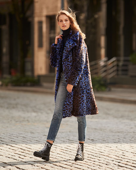 Image 2 of 4: STAND Fanny Faux Fur Long Coat