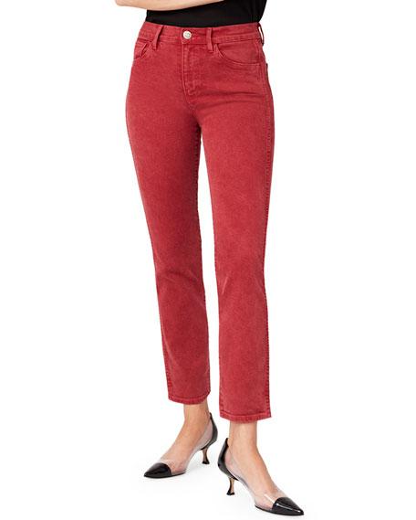 3x1 Stevie High-Rise Cropped Straight-Leg Jeans