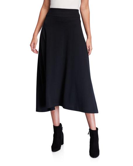 Joan Vass Skirts LONG COTTON INTERLOCK SKIRT
