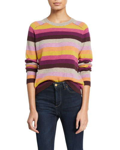 Mariah Striped Cashmere Sweater