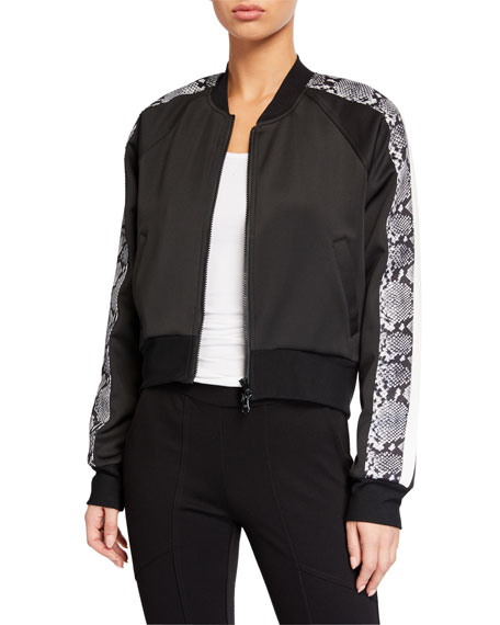Pam & Gela Cropped Track Jacket with Sporty Stripes