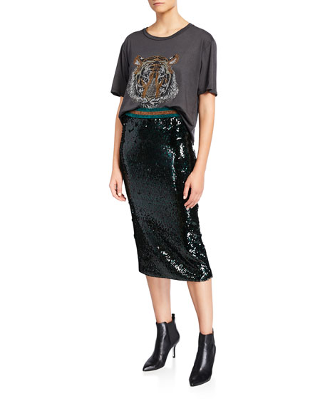 Image 3 of 3: Le Superbe Liza Sequined Skirt