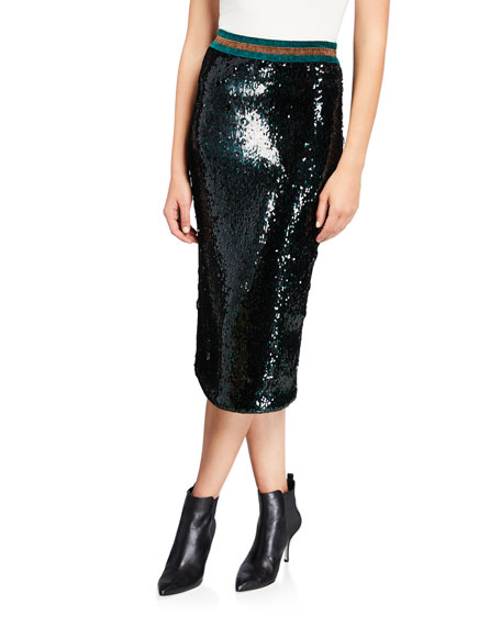 Image 1 of 3: Le Superbe Liza Sequined Skirt
