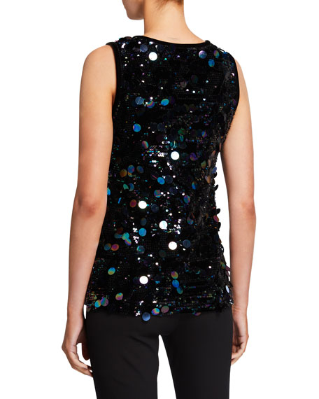 Berek Lush Sparkle Tank with Paillettes