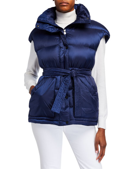 Perfect Moment Oversized Puffer Vest, Navy