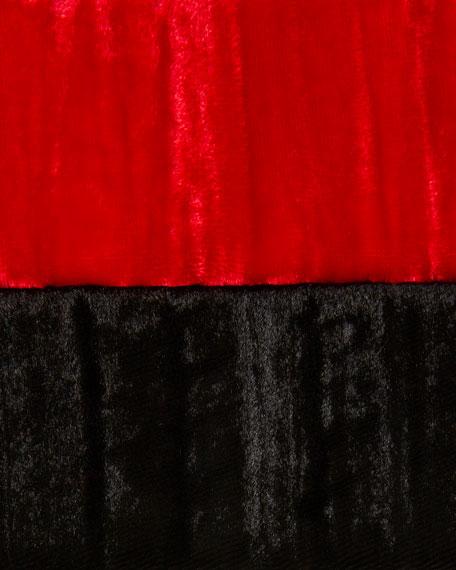 Caroline Rose Crinkle Velvet 3/4-Sleeve Shirt
