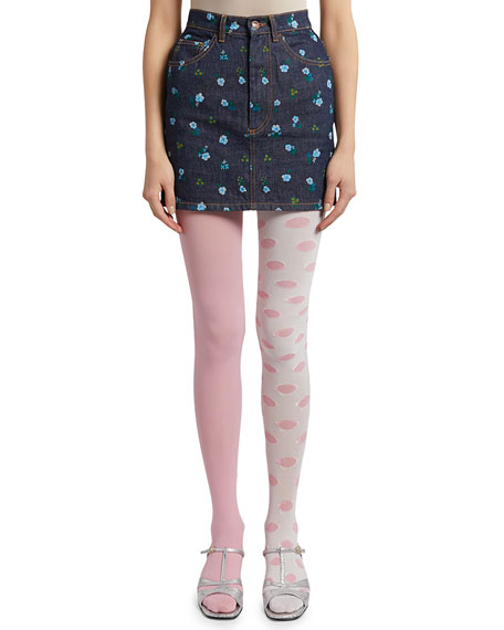 The Marc Jacobs The Left and Right Dot Tights