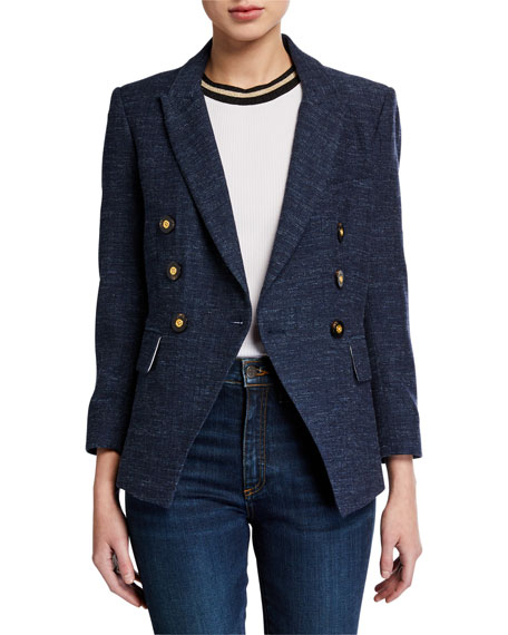 Veronica Beard Empire Plaid Dickey Jacket